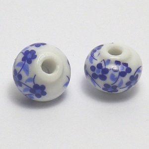 Abalorios con flores azules