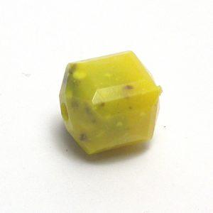 Cuenta facetada color amarillo