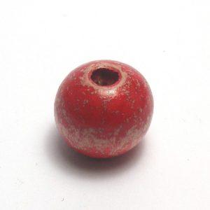 Abalorio de madera rojo viejo