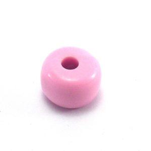 Bola achatada rosa de resina