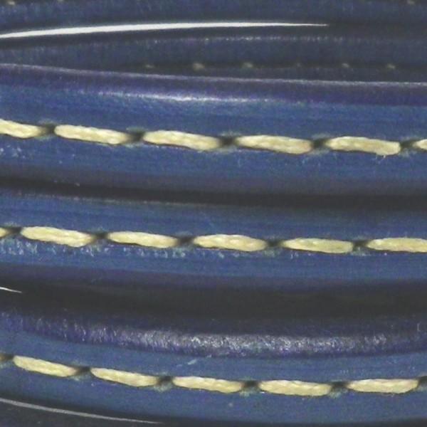 Cordón de regaliz cosido color azul