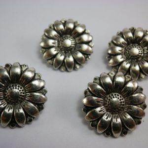 boton flor metalico