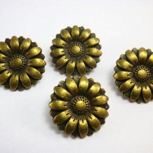 boton flor dorado