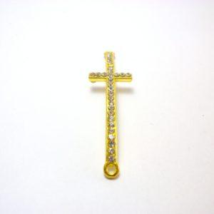 colgante de cruz de stras
